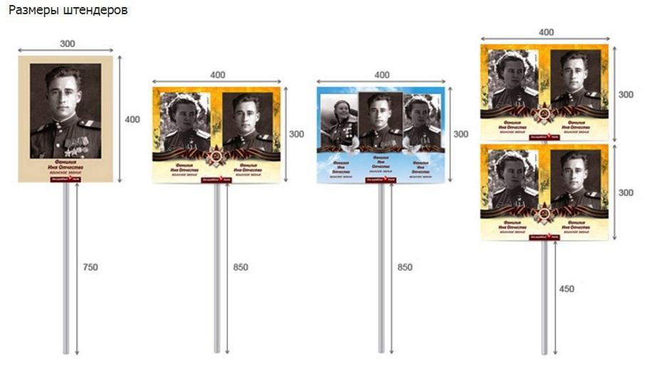 """Изготовим плакаты и штендеры для акции """"Бессмертный полк"""""""