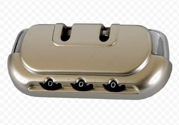 Замок кодовый для чемодана никель